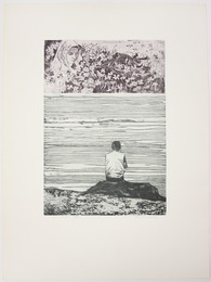 "Etching, ""Sonnet 30,"", 1972. Rita Briansky. Jewish Public Library Archives, 1291_00346."