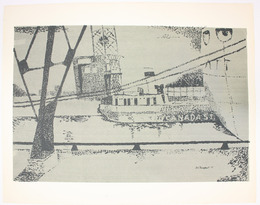 "Screen print, ""Untitled"", [between 1960 and 1980]. Joseph Prezament. Jewish Public Library Archives, 1360_00142."