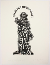 "Print, ""Song of the Open Road III"", 1973. Joseph Prezament. Jewish Public Library Archives, 1360_00160."