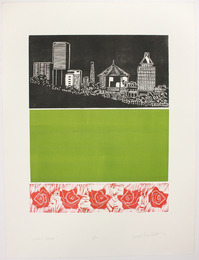 "Print, ""Green Spaces"", 1976. Joseph Prezament. Jewish Public Library Archives, 1360_00152."