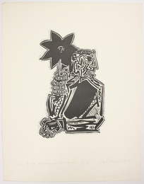 "Print, ""Song of the Open Road by Walt Whitman"", 1973. Joseph Prezament. Jewish Public Library Archives, 1360_00157."