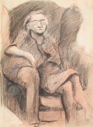 "Sketchbook excerpt, ""Untitled"", 1949. Joseph Prezament. Jewish Public Library Archives, 1360_00003_6."