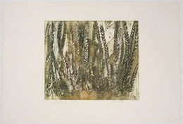 "Etching, ""Awakening"", [between 1970 and 1975]. Rita Briansky. Jewish Public Library Archives, 1291_00095."