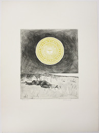 "Etching, ""Sonnet 25,"", 1972. Rita Briansky. Jewish Public Library Archives, 1291_00345."